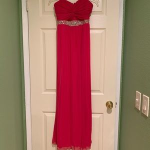 Hot pink long formal dress